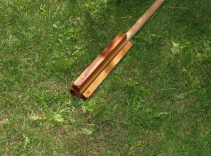 Wooden paddle for hand stirring
