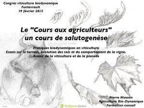 """""""Le Cours aux agriculteurs"""", un cours de Salutogenèse"""
