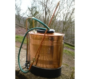 Copper Backpack Sprayer - brass piston system