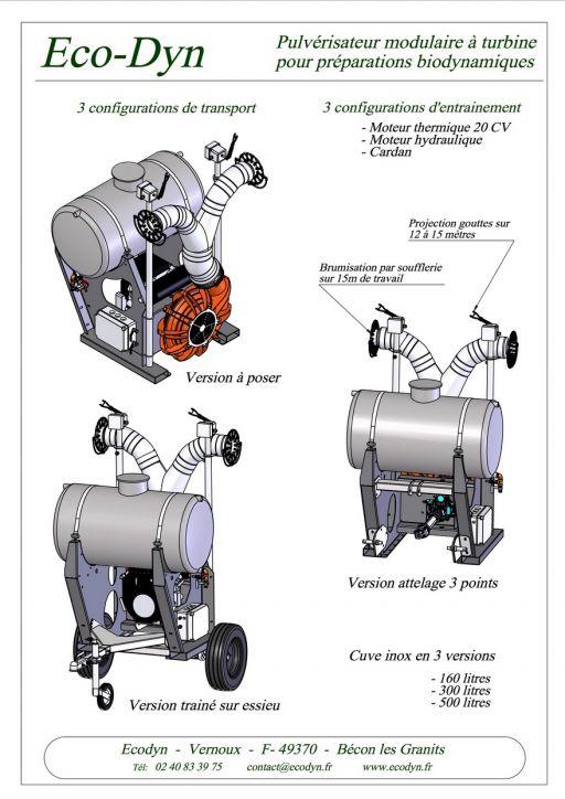 Pulvé à turbine cuve horizontale