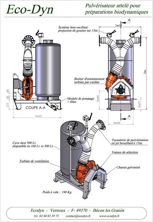 Pulvé à turbine cuve verticale
